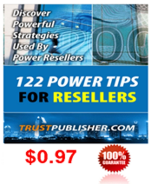 Product picture 122 Power Tips For Resellers
